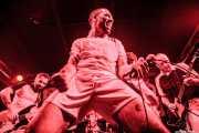 Danilo Valerii -bajista-, Ntendarere Djodji Damas -cantante-. Daniele Tarea -baterista- y Michele Malagnini -guitarrista- de Giuda, Funtastic Dracula Carnival. 2012