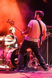 Claudio F. Paván -batería- y Guillermo Royo -bajo- de Señores, Kafe Antzokia, Bilbao. 2013