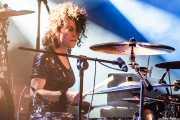 Mariana Pérez Abendaño, baterista de Sonic Trash, Sala Rockstar, Barakaldo. 2013