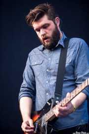 Justin Lockey, guitarrista de Editors (Bilbao BBK Live, Bilbao, 2013)