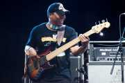 "Jeff ""Cherokee"" Bunn, bajista de George Clinton's Parliament Funkadelic, Stade Aguiléra. 2013"