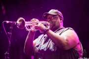 Bennie Cowan, trompetista de George Clinton's Parliament Funkadelic, Stade Aguiléra. 2013