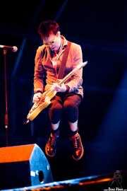 """Michael """"Olga"""" Algar, cantante y guitarrista de The Toy Dolls, Bilbao. 2013"""