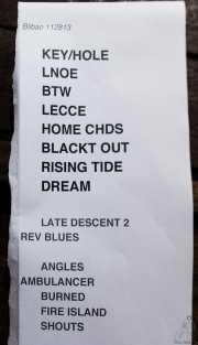 023 Primavera Sound Touring Party 2013 Lee Ranaldo Band 28XI13 setlist