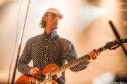 Juan López, bajista de Luigi Stream & Lee Perk Trio, Santana 27, Bilbao. 2014