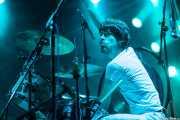 Andoni Etxebeste, baterista de Supersweet, Santana 27, Bilbao. 2014