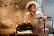 Jokin Corral, baterista y cajón de Dead Bronco, Santana 27. 2014