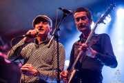 """Iñaki García """"Igu"""" -cantante y armonicista- y Ernesto García -guitarrista- de The Allnighters, Santana 27. 2014"""