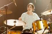 Virginia Fernández, baterista de Last Fair Deal, Kafe Antzokia, 2014