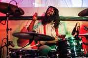 Michael Gardner, baterista de John The Conqueror, Hika Ateneo, Bilbao. 2014