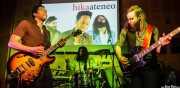 Pierre Moore -voz y guitarra-, Ryan Lynn -bajo-, Michael Gardner -batería- de John The Conqueror, Hika Ateneo, Bilbao. 2014