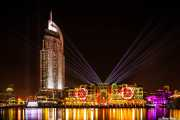The Address Downtown Dubai Hotel & Souk Al Bahar. Video Mapping. 078 Vacaciones Marzo 2014 Emiratos Arabes Unidos Dubai
