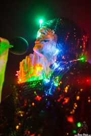 Keith 'Monkey' Warren, cantante de The Adicts, en la Sala Sonora, Erandio