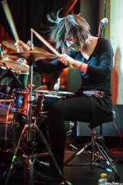 Ilargi Agirre, baterista de Screaming George & The Hustlers, en el Fuzz in the City 2014, Bilbao