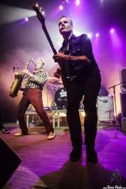 Dani Nel·lo -saxofonista- y Mario Cobo -guitarrista- de Los Mambo Jambo, Kafe Antzokia. 2014