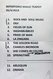 setlist de The Magic Teapot, Santana 27, 2014