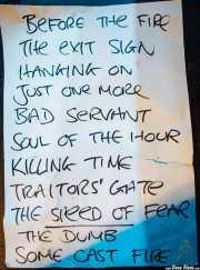 Setlist de Gallon Drunk, Intxaurrondo K.E., 2014