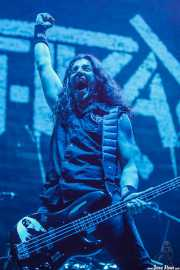 Frank Bello, bajista de Anthrax, Bilbao Exhibition Centre (BEC), 2014