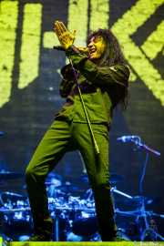 Joey Belladonna, cantante de Anthrax, Bilbao Exhibition Centre (BEC), 2014