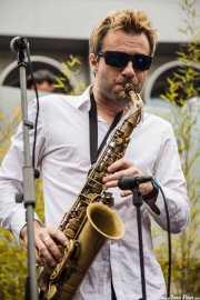 Adrian Cunningham, clarinetista-saxofonista de Doc Scanlon's Hot 4, Gastroswing - Artium, 2014