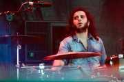 Mateo Cirer, baterista de The Midnight Travellers, Azkena Rock Festival, 2014