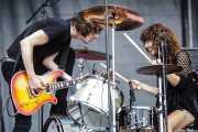 Koldo Soret y Úrsula Strong, de Niña Coyote eta Chico Tornado, Azkena Rock Festival, 2014