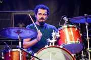 Sergio Prieto, baterista de Bluenáticos, Azkena Rock Festival, 2014