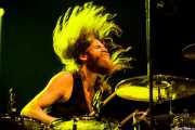 "Christoph ""Tiger"" Bartelt, baterista de Kadavar, Azkena Rock Festival, 2014"