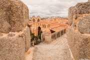 Basílica de San Vicente vista desde la muralla de Ávila, Muralla de Ávila, 2014