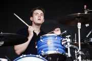 Jack Brown, baterista de White Lies, Bilbao BBK Live, 2014