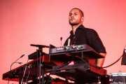 Jorge González, percusionista de Vetusta Morla, Bilbao BBK Live, 2014
