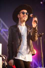 Stef Gustaph, cantante de Hercules & Love Affair, Bilbao BBK Live, 2014