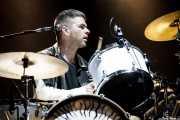 Paul Thomson, baterista de Franz Ferdinand, Bilbao BBK Live, 2014