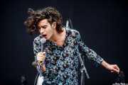 Matthew Healy, cantante de The 1975, Bilbao BBK Live, 2014