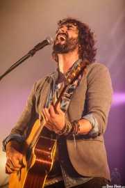 Mikel Izal, guitarrista y cantante de Izal, Bilbao BBK Live, 2014