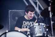 Lander Zalakain, baterista de Belako, Bilbao BBK Live, 2014