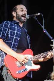 Josele Santiago, guitarrista y cantante de Los Enemigos, Bilbao BBK Live, 2014