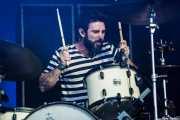 Creighton Barrett, baterista de Band of Horses, Bilbao BBK Live, 2014