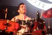 Caleb Melguizo, baterista de La Maravillosa Orquesta del Alcohol (La M.O.D.A.), Bilbao BBK Live, 2014