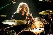 Mateo Cirer, baterista de TV Smith and The Bored Teenagers, Kafe Antzokia, 2014