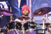 """Benjamin """"Benzel"""" Cowan, baterista de George Clinton's Parliament Funkadelic, Donostiako Jazzaldia - Zurriola, 2014"""
