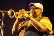 Bennie Cowan, trompetista de George Clinton's Parliament Funkadelic, Donostiako Jazzaldia - Zurriola, 2014