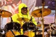 """Joseph McCreary """"Foley"""", baterista de George Clinton's Parliament Funkadelic, Donostiako Jazzaldia - Zurriola, 2014"""