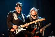 "Ricky Rouse y Michael ""Kidd Funkadelic"" Hampton, guitarristas de George Clinton's Parliament Funkadelic, Donostiako Jazzaldia - Zurriola, 2014"