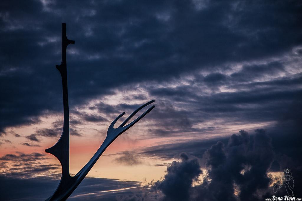 Escultura Sólfar -El viajero del sol- (Jón Gunnar Árnason, 1990), Reikiavik, Islandia, 2014