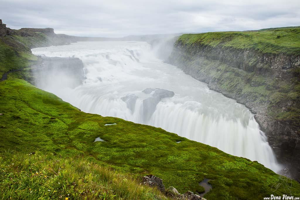 Gullfoss (Cascada Dorada), Islandia, 2014