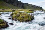 Rápidos de un rio, Islandia, 2014