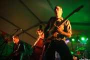 Dani Nel.lo -saxofonista-, Ivan Kovacevic -contrabajista-, Mario Cobo -guitarrista- y Antón Jarl -baterista- de Los Mambo Jambo, Aste Nagusia - Algara Txosna. 2014