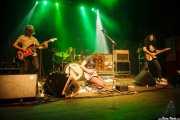 Rob Laakso -bajista y teclista-, Kyle Spence -baterista-, Kut Vile -guitarrista y cantante- y Jesse Trbovich -guitarrista- de Kurt Vile & The Violators (23/08/2014)