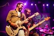 Gorka Bizar -guitarrista-, Jorge Alonso -bajista- y Alex Alonso -baterista- de Jare (05/09/2014)